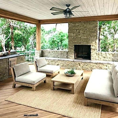 Outdoor Ceiling Fans For Decks Within 2018 Outdoor Porch Ceiling Fans With Lights Outdoor Deck Fan Outdoor (View 11 of 15)