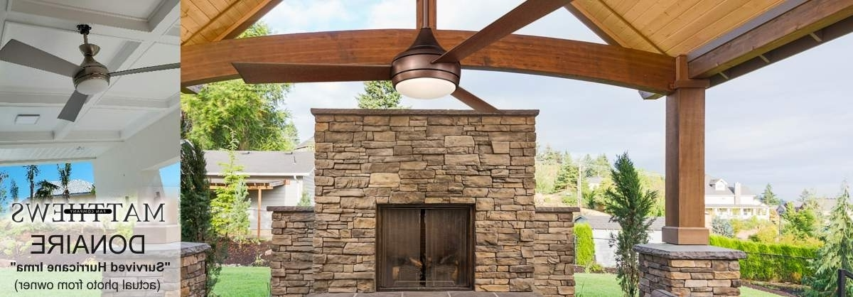 Outdoor Ceiling Fans For High Wind Areas Inside Latest Outdoor Ceiling Fans – Shop Wet, Dry, And Damp Rated Outdoor Fans (View 9 of 15)
