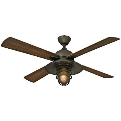 "Outdoor Ceiling Fans For High Wind Areas With Regard To Preferred Westinghouse 7204300 Great Falls One Light 52"" Abs Resin Four Blade (View 10 of 15)"