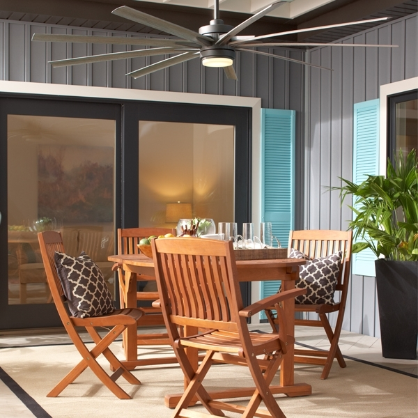 Outdoor Ceiling Fans For Patios Intended For Current Best Outdoor Ceiling Fans: Overall &location (View 12 of 15)