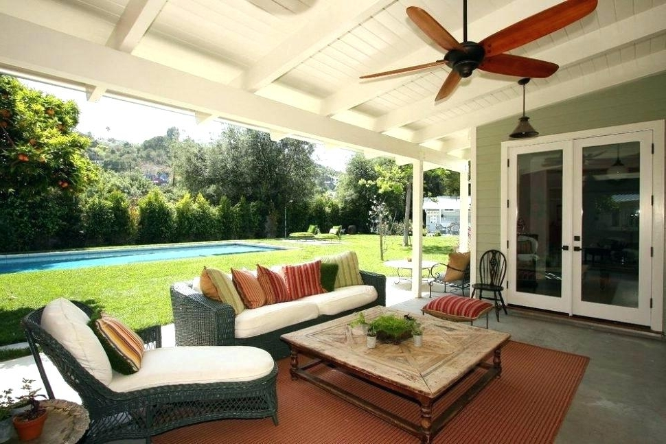 Outdoor Ceiling Fans For Patios Within Famous Ceiling Fans Outdoor With Light Large Outdoor Fan Large Size Of Wet (View 6 of 15)