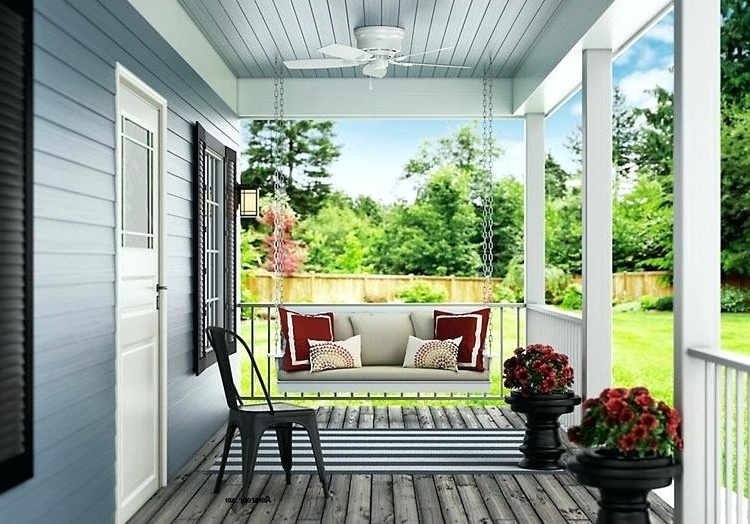 Outdoor Ceiling Fans For Porch Regarding Most Current Outdoor Ceiling Flush Mount Outdoor Ceiling Fan Flush Mount Ceiling (View 4 of 15)