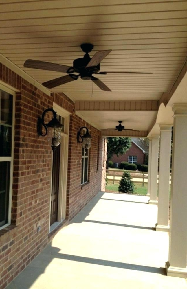 Outdoor Ceiling Fans For Porches With Popular Exterior Ceiling Fans (View 11 of 15)
