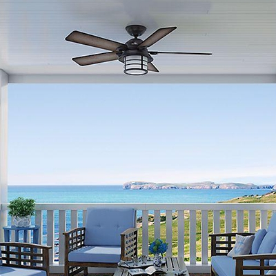 Outdoor Ceiling Fans For Screened Porches Regarding Favorite Ceiling Fans At The Home Depot (View 8 of 15)