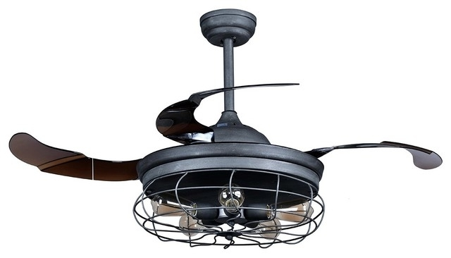 Outdoor Ceiling Fans Shades Of Light In Industrial With Ideas 8 Within 2017 Industrial Outdoor Ceiling Fans With Light (View 15 of 15)