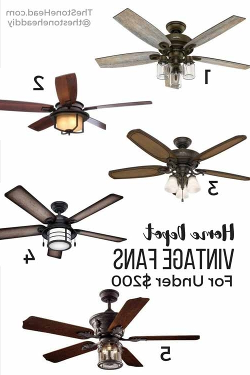 Outdoor Ceiling Fans Under $200 In Well Known Vintage Ceiling Fans For Under $200 – The Stone Head (View 9 of 15)
