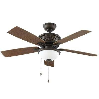 Outdoor Ceiling Fans Under $200 With Regard To Widely Used Outdoor – Ceiling Fans – Lighting – The Home Depot (View 11 of 15)