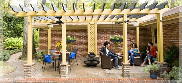 Outdoor Ceiling Fans Under Pergola With Regard To Favorite Outdoor Living : Made In The Shade: Pergola Outdoor Room (View 4 of 15)