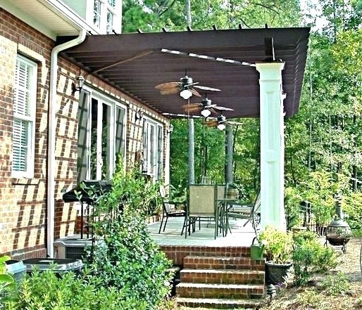 Outdoor Ceiling Fans Under Pergola With Regard To Most Current Pergola Fan Ceiling Fans For Outdoors Living In Mosquito Weather (View 3 of 15)