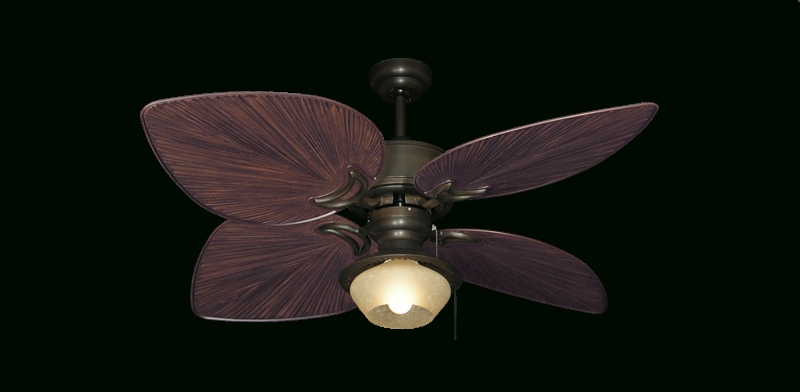 Outdoor Ceiling Fans With Bamboo Blades Inside Well Known Ceiling: Stunning Palm Leaf Ceiling Fan Wicker Ceiling Fans, Bamboo (View 15 of 15)