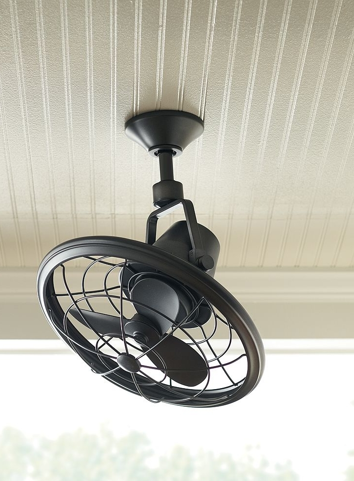 Outdoor Ceiling Fans With Cage For Current Ceiling: Astounding Small Outdoor Ceiling Fan Hunter Outdoor Ceiling (View 2 of 15)