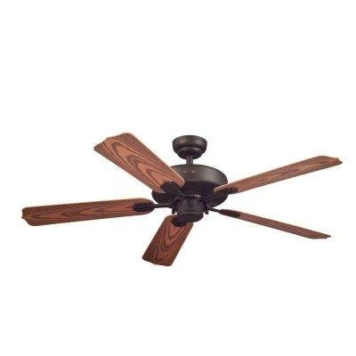 Outdoor Ceiling Fans With Downrod Pertaining To Fashionable Downrod Included – Bronze – Indoor/outdoor – Ceiling Fans – Lighting (View 11 of 15)