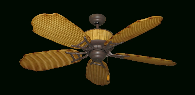 "Outdoor Ceiling Fans With Hook In Well Known 52"" Cabana Breeze Indoor Outdoor Ceiling Fan In Cobblestone (View 11 of 15)"