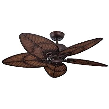 "Outdoor Ceiling Fans With Hook Intended For Preferred Emerson Cf135Dbz Callito Cove 52"" Indoor Outdoor Ceiling Fan, Bronze (View 12 of 15)"