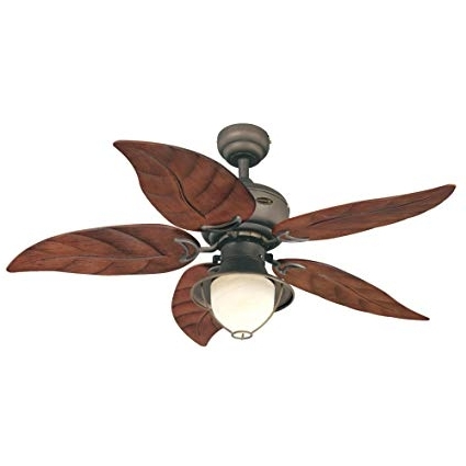 Outdoor Ceiling Fans With Leaf Blades for Most Recently Released Westinghouse 7861920 Oasis Single-Light 48-Inch Five-Blade Indoor