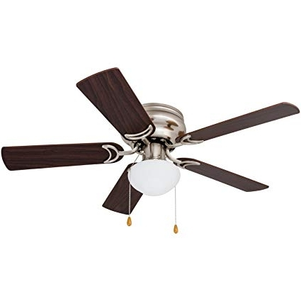 Outdoor Ceiling Fans With Led Globe Inside Favorite Amazon: Prominence Home 80029 01 Alvina Led Globe Light Hugger (View 2 of 15)