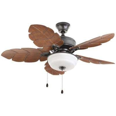 Outdoor Ceiling Fans With Lights At Home Depot Inside Well Known Flush Mount – Outdoor – Ceiling Fans – Lighting – The Home Depot (View 14 of 15)