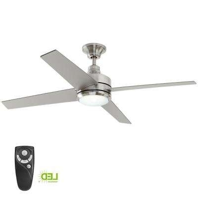 Outdoor Ceiling Fans With Long Downrod In Most Popular Downrod Included – Ceiling Fans – Lighting – The Home Depot (View 6 of 15)