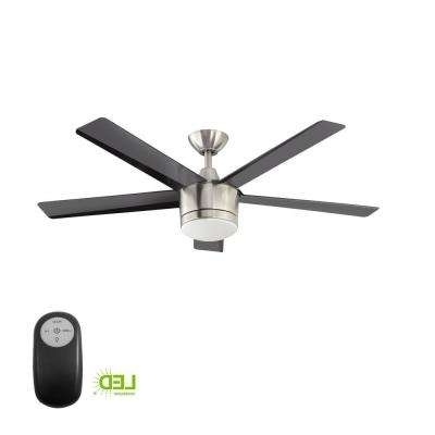 Outdoor Ceiling Fans With Long Downrod In Widely Used Downrod Included – Ceiling Fans – Lighting – The Home Depot (View 8 of 15)