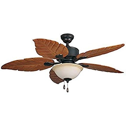 Outdoor Ceiling Fans With Long Downrod Pertaining To Fashionable St Kitts 52 In Oil Rubbed Bronze Downrod Mount Indoor/outdoor (View 9 of 15)