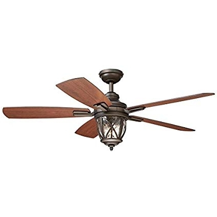 Outdoor Ceiling Fans With Long Downrod Regarding Current Castine 52 In Rubbed Bronze Downrod Or Close Mount Indoor/outdoor (View 8 of 15)