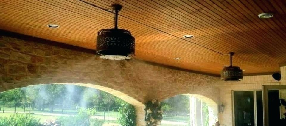 Outdoor Ceiling Fans With Misters Intended For Most Up To Date Outdoor Ceiling Fans With Misters – Verged (View 13 of 15)