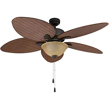 Outdoor Ceiling Fans With Palm Blades With Preferred Prominence Home 80014 01 Palm Valley Tropical Ceiling Fan With Palm (View 8 of 15)