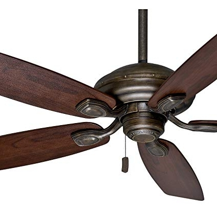 """Outdoor Ceiling Fans With Plastic Blades For Latest Casablanca 52"""" Damp Rated Aged Bronze Finish Outdoor Ceiling Fan (View 8 of 15)"""