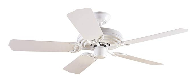 Outdoor Ceiling Fans With Plastic Blades Regarding Most Recently Released Hunter 23566 Sea Air 52 Inch 5 White Plastic Blades Ceiling Fan (View 9 of 15)