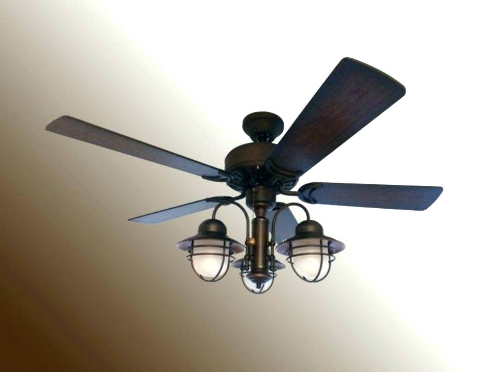 Outdoor Ceiling Fans With Pull Chain Pertaining To Most Recently Released Outdoor Fan With Light Large Size Of Nautical Ceiling Fan Light Kit (View 6 of 15)