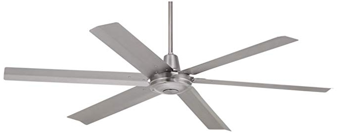 "Outdoor Ceiling Fans With Remote For Most Up To Date 60"" Turbina Max Brushed Steel Outdoor Ceiling Fan – – Amazon (View 14 of 15)"