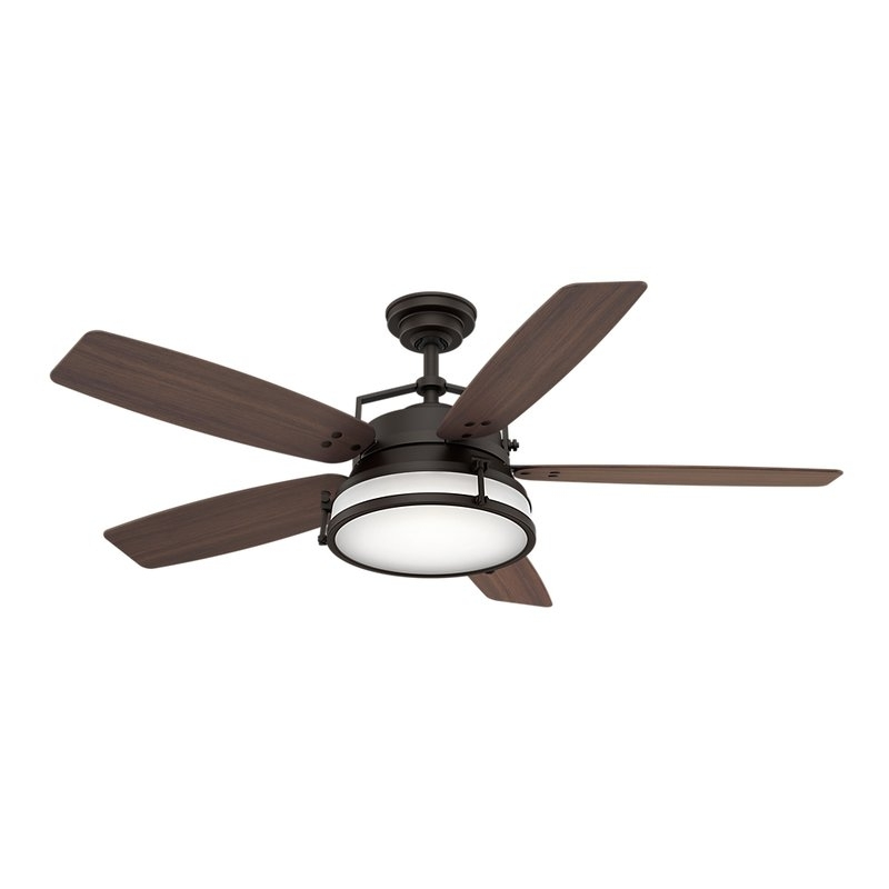 "Outdoor Ceiling Fans With Removable Blades Inside Trendy Casablanca Fan 56"" Caneel Bay 5 Blade Outdoor Ceiling Fan & Reviews (View 15 of 15)"