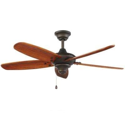 Outdoor – Ceiling Fans Without Lights – Ceiling Fans – The Home Depot For Famous Metal Outdoor Ceiling Fans With Light (View 11 of 15)