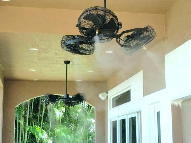Outdoor Cooling Fans Home Depot Outdoor Ceiling Fan Outdoor Ceiling Inside Recent Outdoor Ceiling Fans With Misters (View 3 of 15)