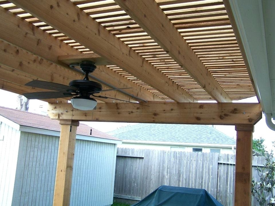 Outdoor Deck Fan Majestic Looking Pergola Fan I Like The Lighting Within Most Current Outdoor Ceiling Fans Under Pergola (View 11 of 15)