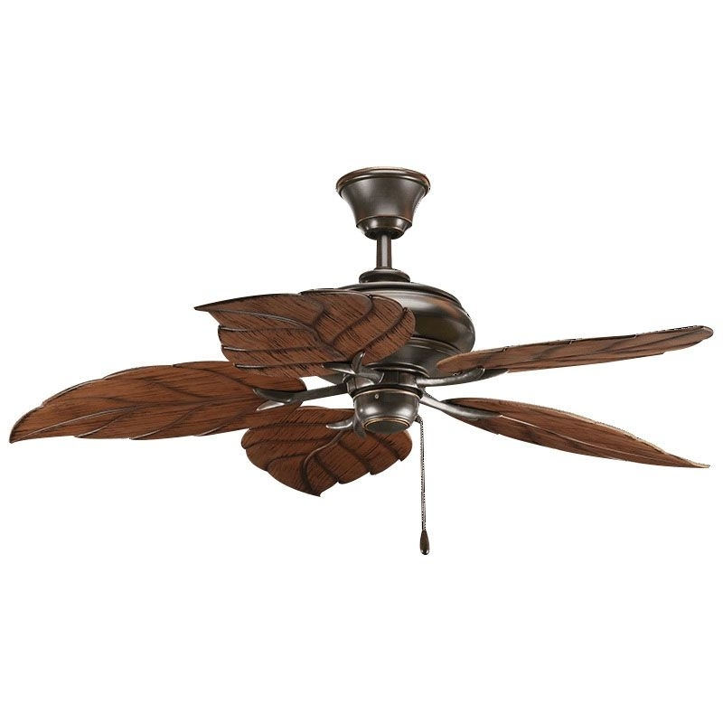 Outdoor Electric Ceiling Fans Inside Favorite Progress Lighting P2526 20 Indoor/outdoor Ceiling Fan 52 Inch  (View 10 of 15)