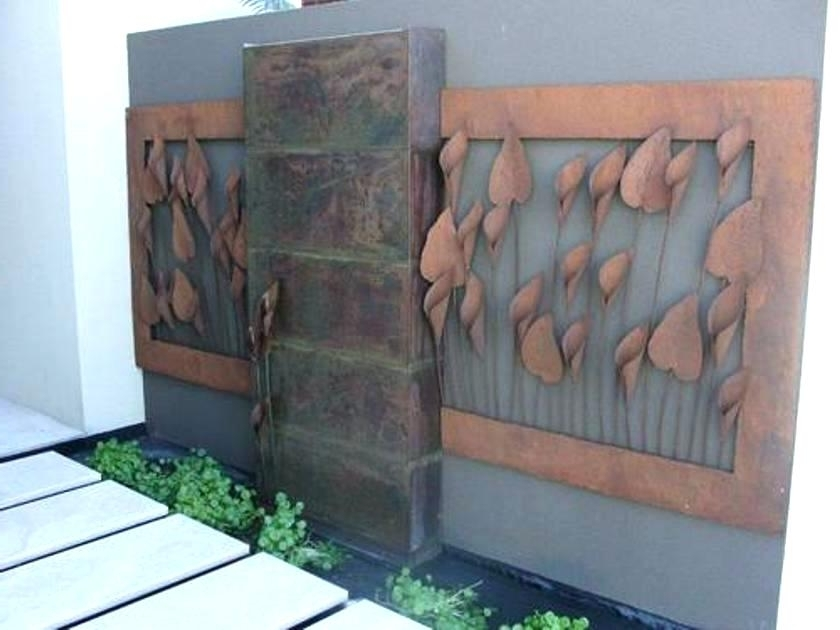 Outdoor Metal Wall Decor Outdoor Wall Decor Ideas Steel 3 Dimensions Throughout Current Copper Outdoor Wall Art (View 12 of 15)