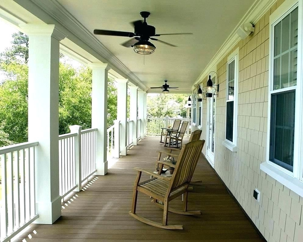 Outdoor Porch Ceiling Fans With Lights With Most Recently Released Outdoor Porch Ceiling Fans Impressive On Patio Ideas With Lights (View 10 of 15)