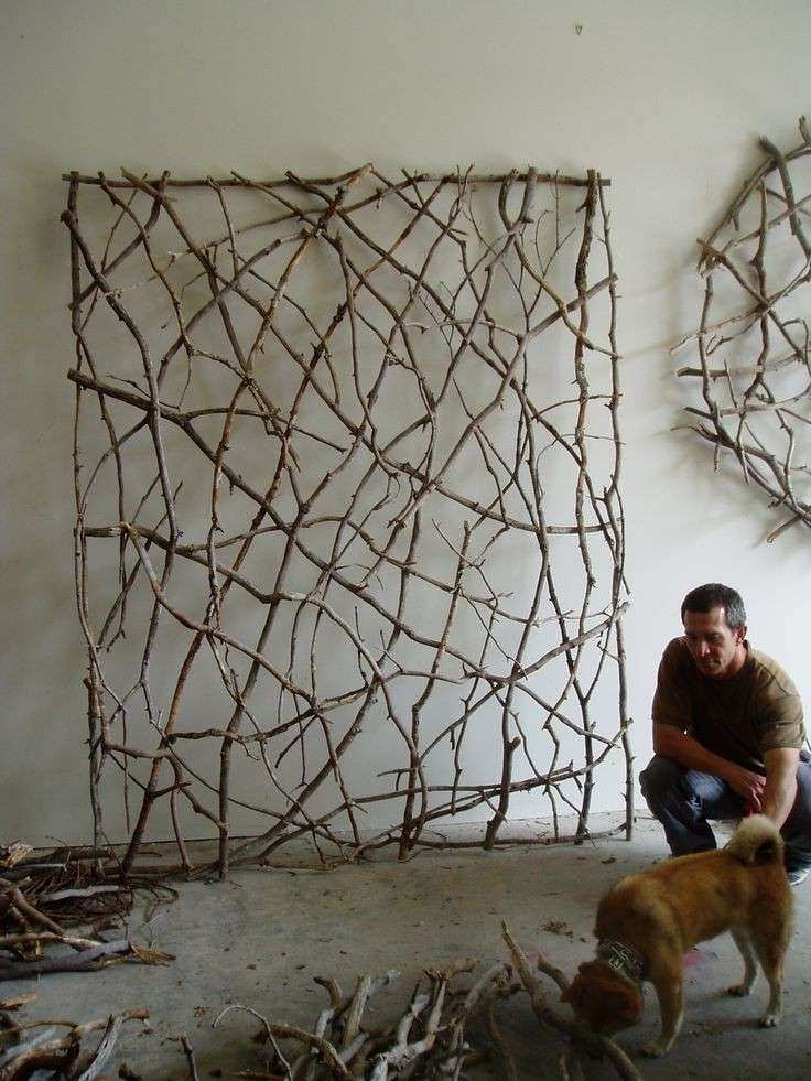 Outdoor Wall Sculpture Art Intended For Best And Newest Outdoor Wall Art Decor Inspirational Twig Woven Wall Sculpture (View 13 of 15)