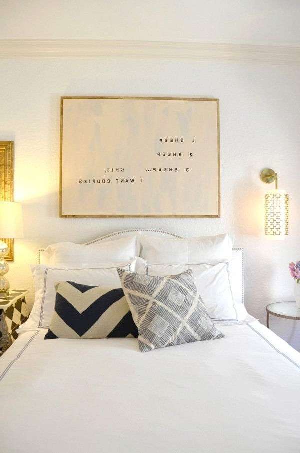 Over The Bed Wall Art Pertaining To Fashionable Canvas Framed Words Pinterest Simple Decoration Unique Wall Art Over (View 9 of 15)