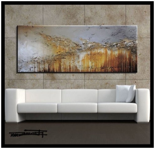 Oversized Abstract Wall Art Inside Preferred Amazon: Extra Large Modern Abstract Canvas Wall Art (View 8 of 15)