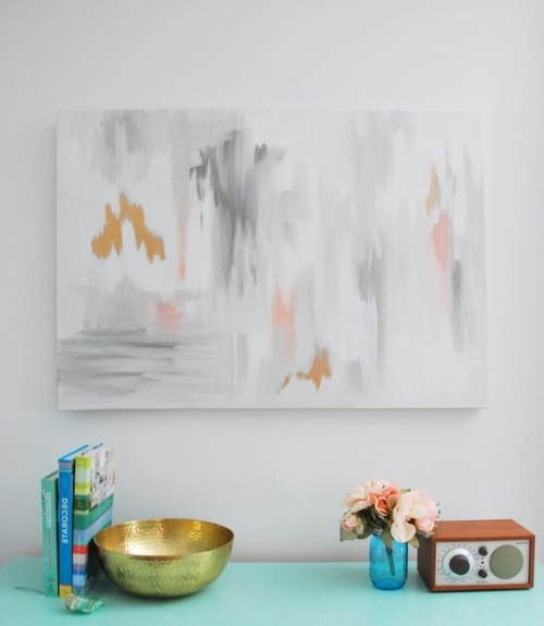 Oversized Diy Abstract Wall Art Piece – Shelterness With 2017 Diy Abstract Wall Art (View 9 of 15)