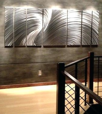 Oversized Metal Wall Art Intended For Widely Used Large Metal Wall Art Large Wood Wall Art Metal – Pointti (View 7 of 15)