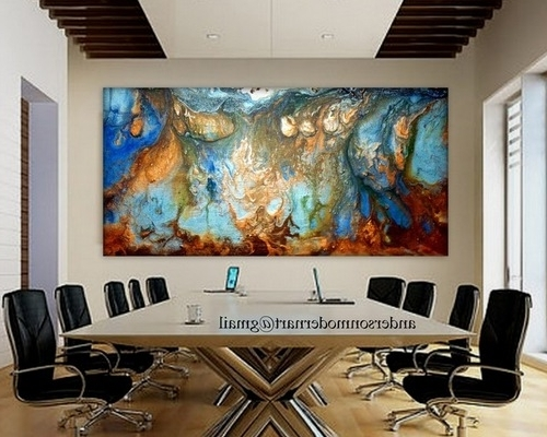Oversized Modern Wall Art Throughout Most Up To Date Large Wall Art Fluid Acrylic Painting Metal Wall Art Flourish (View 6 of 15)