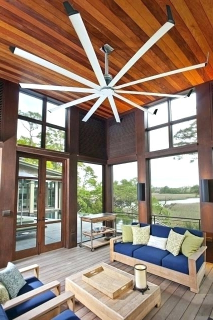 Oversized Outdoor Ceiling Fans Inside Popular Large Outdoor Ceiling Fans Inches Amp Bigger Driftwood Fan Blade (View 5 of 15)