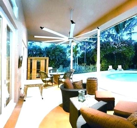Featured Photo of Oversized Outdoor Ceiling Fans