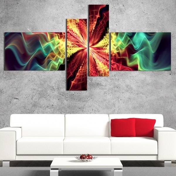 Overstock Abstract Wall Art For Most Popular Shop Designart 'winds Of The World' Large Abstract Wall Art – On (View 2 of 15)