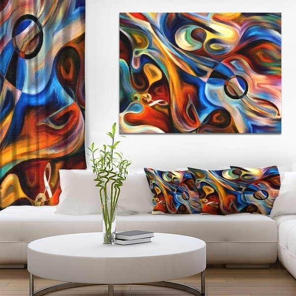 Overstock Abstract Wall Art With Regard To Recent Shop Designart – Abstract Music And Rhythm – Abstract Canvas Art (View 12 of 15)