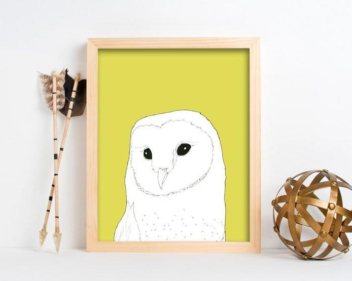 Owl Framed Wall Art Inside Most Popular Framed Wall Art, Framed Art Prints, Large Framed Art, Large Framed (View 8 of 15)