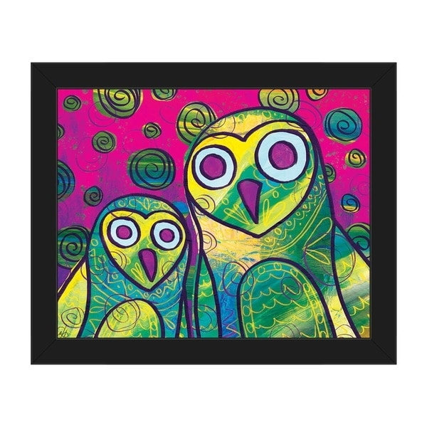 Owl Framed Wall Art With Regard To Most Up To Date Shop Wild Colorful Owls Framed Canvas Wall Art Print – On Sale (View 4 of 15)